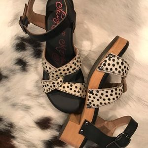 naughty monkey Shoes - Naughty Monkey Cheetah Low Heeled Platform Shoes